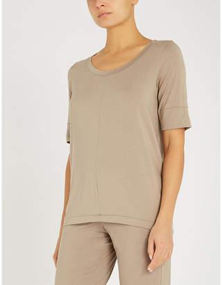 Hanro Yoga stretch-jersey short sleeve top