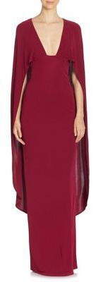 ABS Plunging V-Neck Cape Gown $460 thestylecure.com