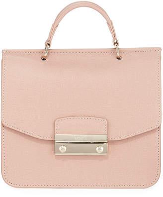 Furla Julia Mini Saffiano Leather Top-Handle Crossbody Bag