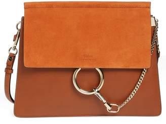 Chloé 'Faye' Leather & Suede Shoulder Bag