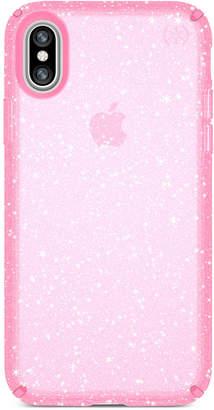 Speck Presidio Clear Glitter iPhone X Case