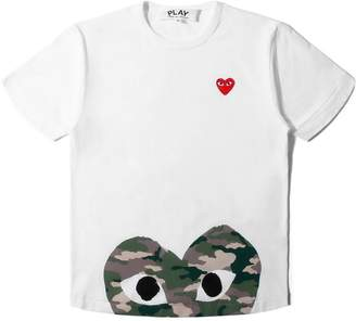 Comme des Garcons PLAY CAMOUFLAGE T-SHIRT