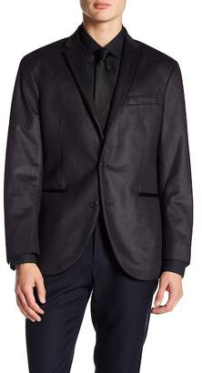 Kenneth Cole New York Square Evening Two Button Notch Lapel Trim Fit Sport Coat