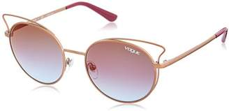 Vogue Women's Casual Chic Non-Polarized Iridium Round Sunglasses