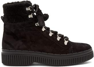 Shearling-lined suede après-ski boots