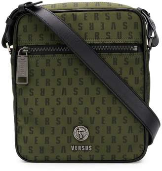 Versus logo zipped messenger bag