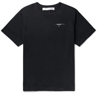 Off-White Off White Oversized Printed Cotton-Jersey T-Shirt - Men - Black