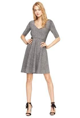 Milly Metallic Doubleknit Flare Dress