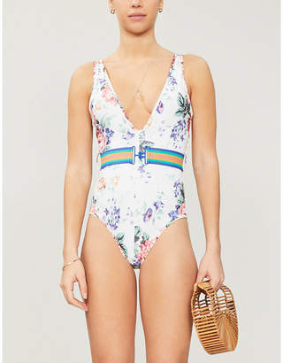 Zimmermann Allia floral-print one-piece swimsuit