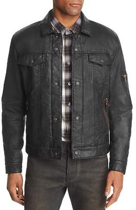 John Varvatos Sherpa-Lined Coated Denim Jacket - 100% Exclusive