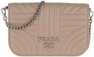 Prada Quilted Diagramme Nappa Leather Bag Cipria