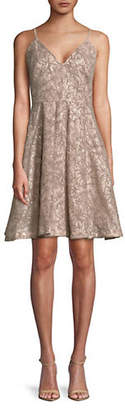 Calvin Klein Sleeveless Sequined Lace Party Dress