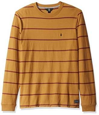 Volcom Men's Randall Knit Crew Long Sleeve Vintage Inspired Striped Shirt