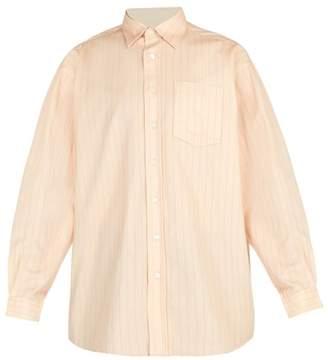 Acne Studios Striped Cotton Shirt - Mens - Pink