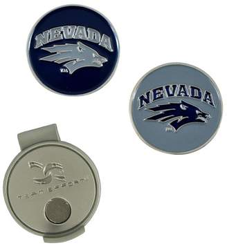Unbranded Nevada Wolf Pack Hat Clip & Ball Markers Set
