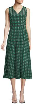 Max Mara Printed Silk A-Line Dress
