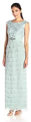 Jessica Howard Women's Artichoke Skirt Long Dress $168 thestylecure.com