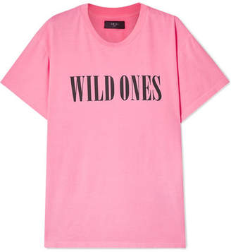 Amiri Wild Ones Printed Neon Cotton-jersey T-shirt - Bright pink