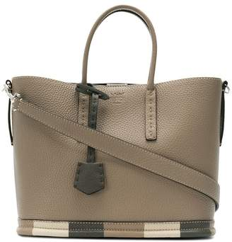 Fendi striped bottom tote