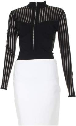 Balmain Black Viscose Tops