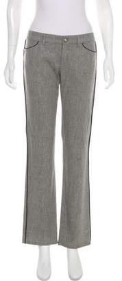 Balenciaga Wool Mid-Rise Wide-Leg Pants
