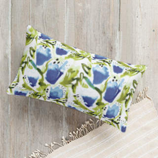Poppy Garden Self-Launch Lumbar Pillows