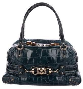 Gucci Crocodile Wave Boston Bag