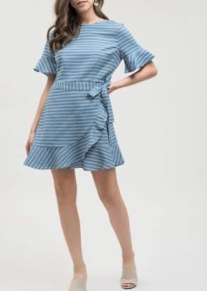 Blu Pepper Ruffle Stripe Dress