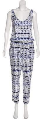 Ella Moss Printed Sleeveless Jumpsuit