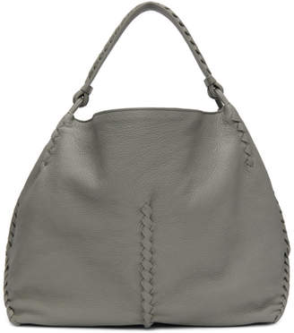 Bottega Veneta Grey Oversized Hobo Bag