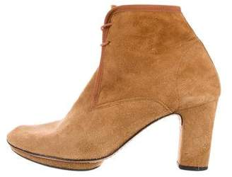 Repetto Suede Round-Toe Ankle Boots