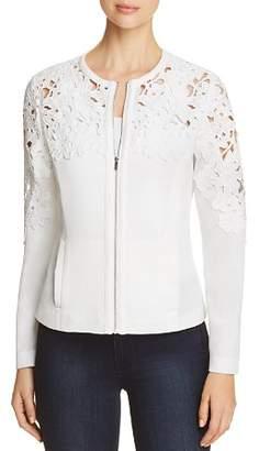 Bagatelle Crochet Zip-Front Jacket