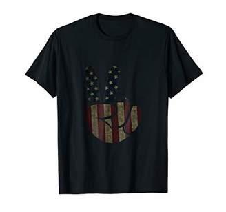 US Flag Vintage Peace Sign T-Shirt