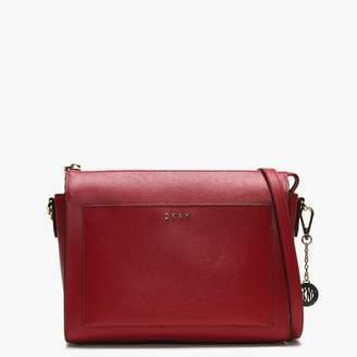 DKNY Medium Bryant Red Leather Box Cross-Body