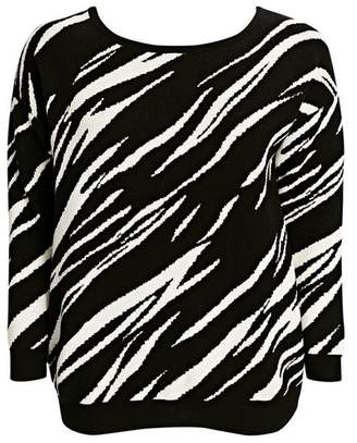 Evans Black and White Zebra Print Jumper