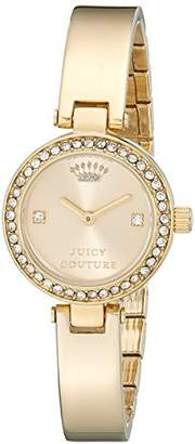 Juicy Couture Women's 1901236 Luxe Couture Gold-Tone Watch $195 thestylecure.com
