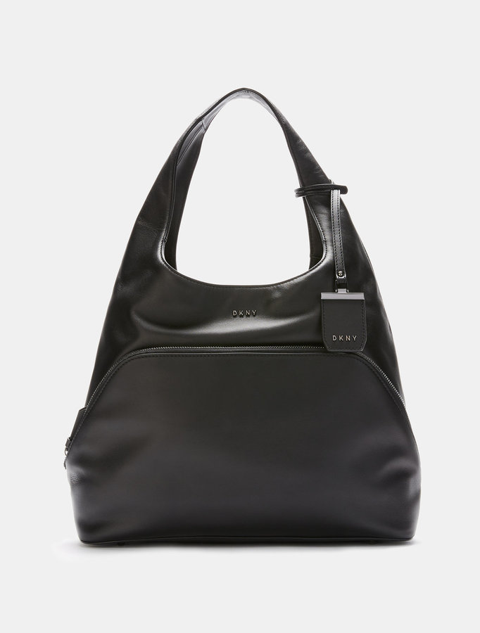 DKNY Heavy Nappa Leather Large Hobo