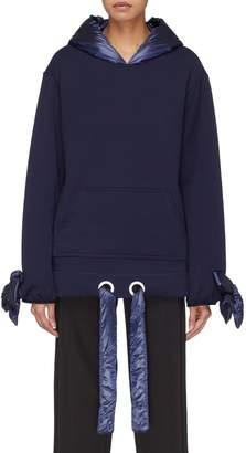 Xiao Li Puffer hood bow cuff hoodie