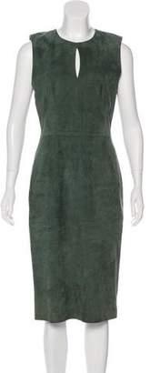 Lyn Devon Suede Midi Dress