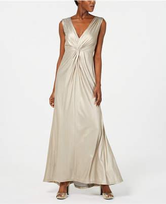 Calvin Klein Twisted Metallic Gown