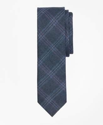 Brooks Brothers Windowpane Wool-Linen Twill Tie