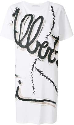 Alberta Ferretti graphic logo long T-shirt