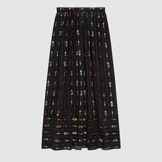 Gucci Silk maxi skirt with fil coupe