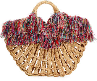 Nannacay Cotio Maria Leque Fringe Large Tote Bag