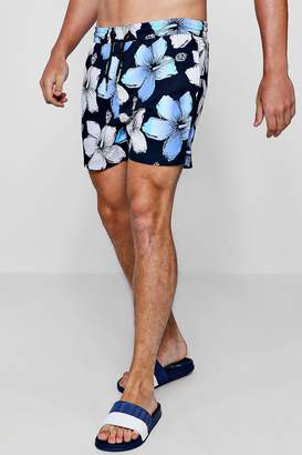 boohoo Bold Floral Print Swim Short