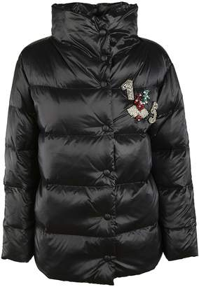 Ermanno Scervino Front Applique Down Jacket