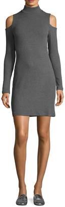 Splendid Women's Cold Shoulder Ribbed Sheath Dress