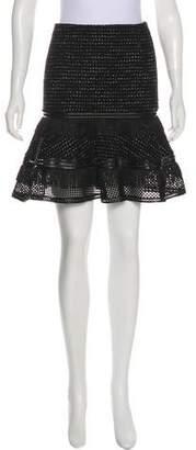 Jonathan Simkhai Fringe-Accented Boucle Skirt