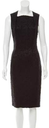 Bottega Veneta Mohair & Silk-Blend Sheath Dress