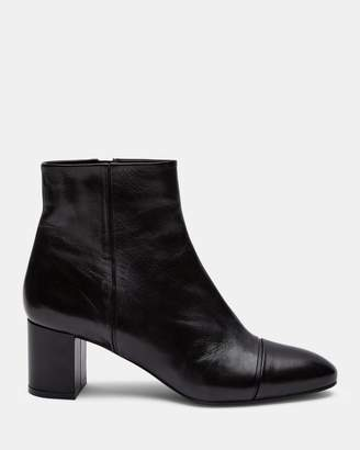 Theory Leather Almond Toe Bootie